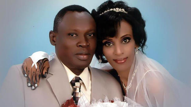 Meriam Ibraham and her husband, Daniel Wani.