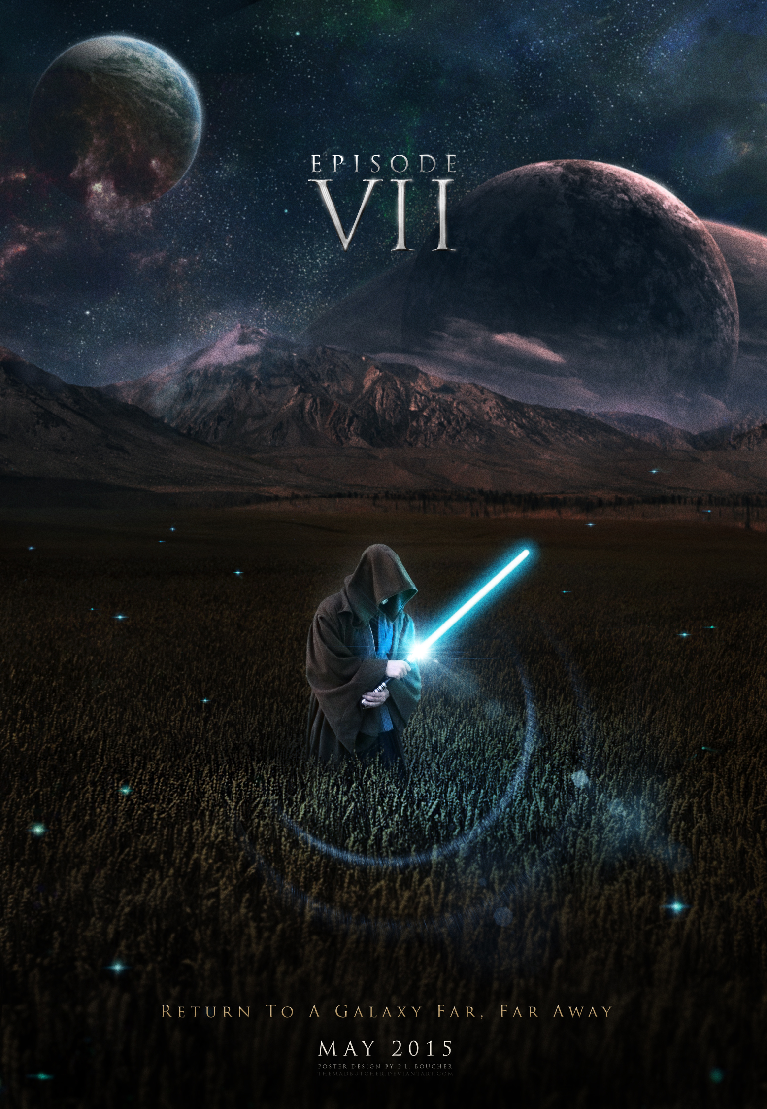 Fan made teaser poster for Star Wars VII, which is set to hit theaters next year.
