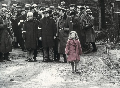 The girl in the red coat in 'Schindler's LIst'