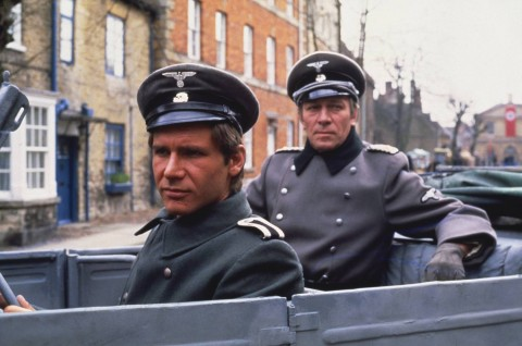 Harrison Ford with Christopher Plummer in 'Hanover Street'.