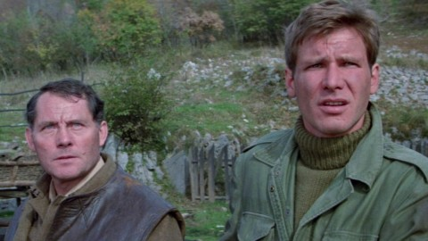 Harrison Ford with Robert Shaw in 'Force 10 from Navarone'.