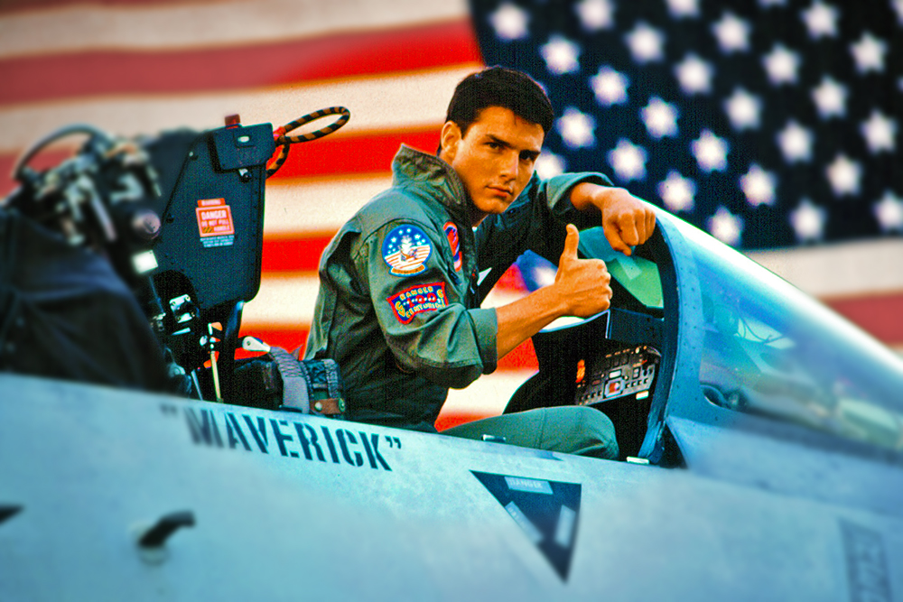 Tom Cruise in 1986's 'Top Gun'.